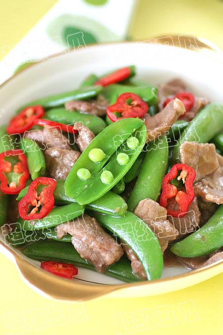 甜豆炒牛肉
