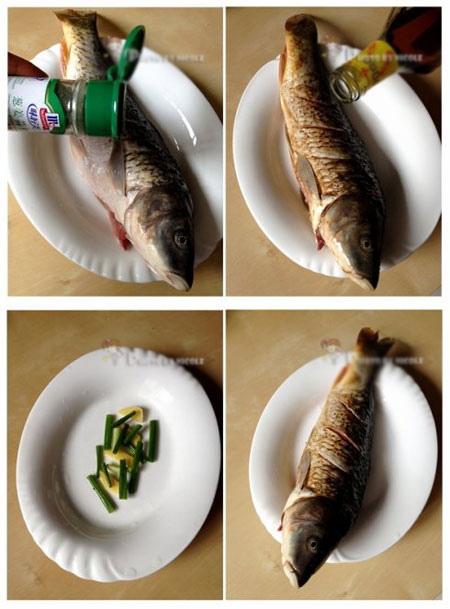 豉汁菇片剁椒鱼
