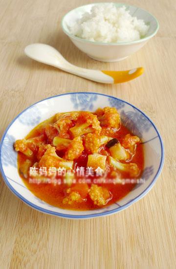西红柿烧菜花