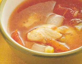 <br />  <br />   <br /> 鸡肉番茄汤-怀孕280天孕妇饮食第62材料:鸡高汤2杯、去皮番茄罐头1/2罐、鸡胸肉100克、西芹丁1/4杯、洋葱丁1/4杯、百里香少许。调味料:盐少许、糖少许、胡椒粉少许。做法:1
