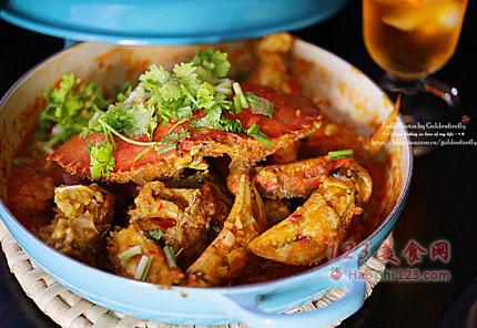 韩式铁板辣酱螃蟹的做法图片