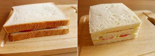 早餐鲜虾三明治