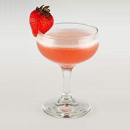 草莓冻唇蜜(strawberry daiquiri)是一杯冻唇蜜系列的鸡尾酒。香甜的草莓力娇酒裹着朗姆酒的浓郁,再加上君度酒的香气,使得这杯酒口感上清爽可口,非常适合女士饮用。  冻唇蜜(daiquiri)是使用朗姆酒的代表鸡尾酒之一。冻唇蜜是古巴新车场郊外的矿山名,相传在这里工作的Jenes Coocks为款待前来看望他的朋友而调制出这款鸡尾酒。古巴独立出西班牙后,美国派遣了很多矿工,工人们为了缓解炎热而利用手边轻松获取的材料来制酒,然后饮用,据说这便是冻唇蜜酒的由来。                冰